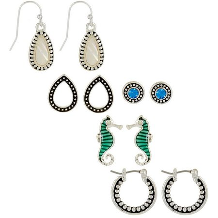 Bay Studio 5-pc. Seahorse & MOP Drop Earring