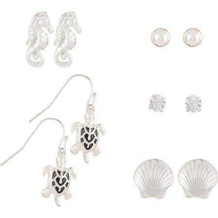 Bay Studio 5-pc. Seahorse Sea Turtle Earrings Set