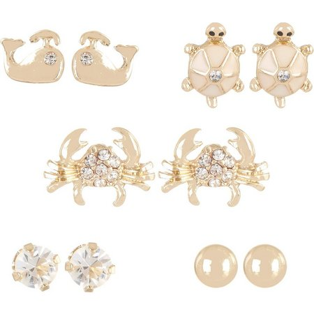 Bay Studio 5-pc.Sealife Stud Earring Set