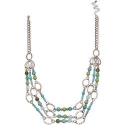 Paradise Shores Triple Row Multi Beaded Necklace