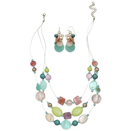 Coral Bay Pastel Multi Shell & Bead Earring