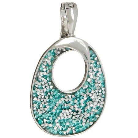 Wearable Art By Roman Aqua Blue Sparkle Pendant
