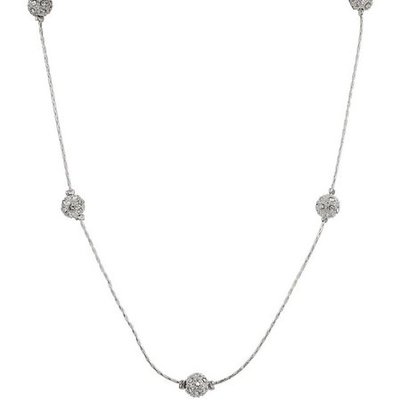 Roman 18 Inch Fireball Station Necklace