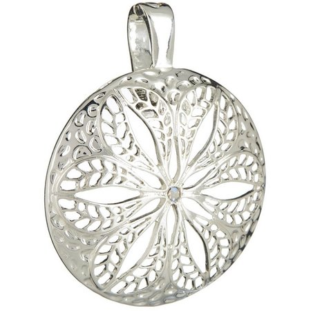Wearable Art By Roman Open Work Flower Pendant