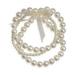 Roman 3-pc. Cream Faux Pearl Bracelet Set