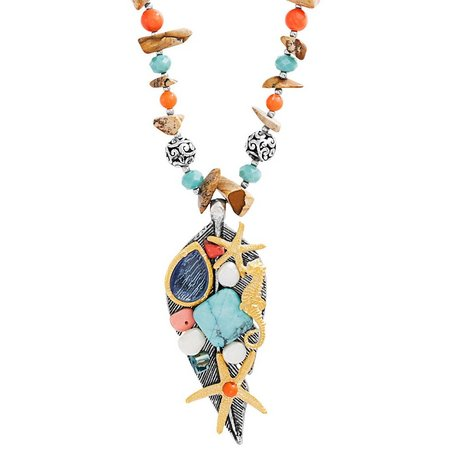 Coral Bay Beaded Sea Life Pendant Necklace