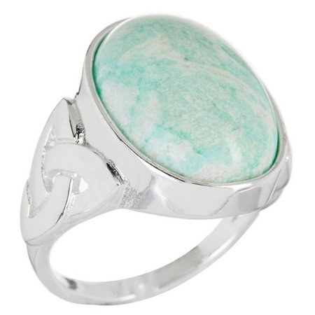 City by City Oval Amazonite Polished Stone Ring