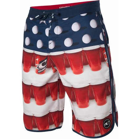O'Neill Mens Beerpong Scalloped Boardshorts