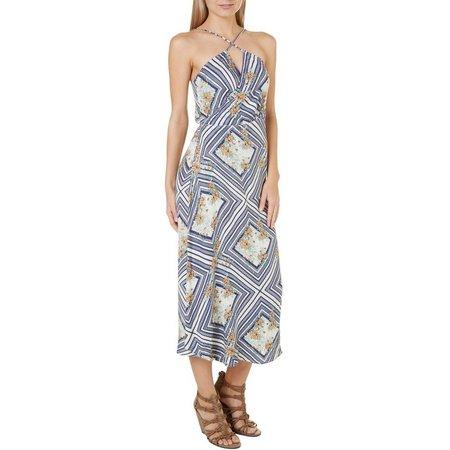 O'Neill Juniors Leelee Faux Wrap Maxi Dress