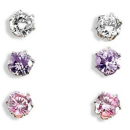Bay Studio Three Cubic Zirconia Stud Earring Set