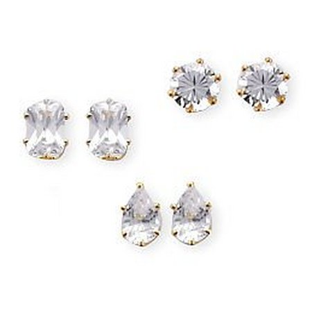 Bay Studio Trio - CZ Trio Earring Set
