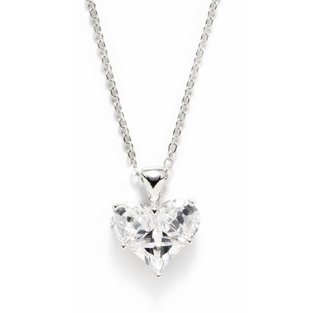 Bay Studio Cubic Zirconia Heart Pendant Necklace