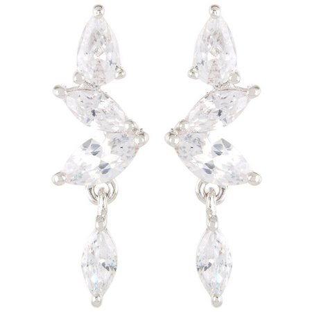 Bay Studio Marquis Zig Zag Post Drop Earrings