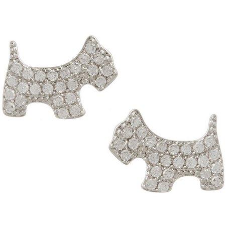 Bay Studio Cubic Zirconia Dog Earrings