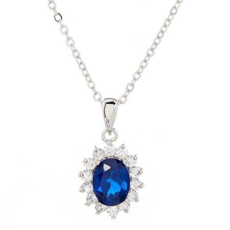 Bay Studio Blue Cubic Zirconia Pendant Necklace