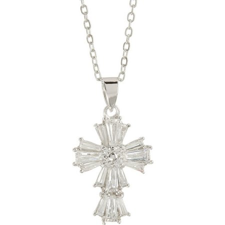 Bay Studio Cubic Zirconia Cross Pendant Necklace