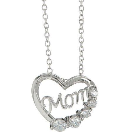 Bay Studio Heart Mom Pendant Necklace