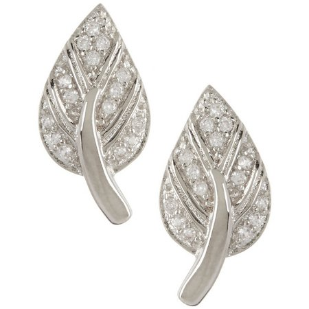 Bay Studio Cubic Zirconia Leaf Earrings