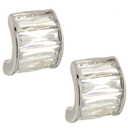 Bay Studio Cubic Zirconia Baguette Stud Earrings