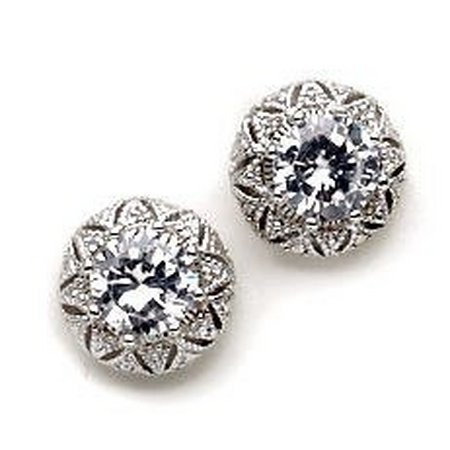 Bay Studio Vintage CZ Stud Earrings