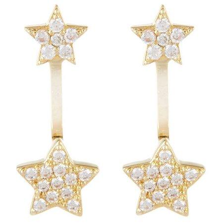 Bay Studio Cubic Zirconia Star Post Top Earrings