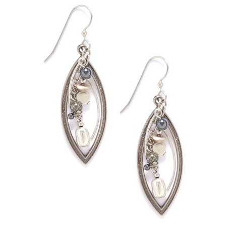 Silver Forest Silver Open Oval Dangle Earrings
