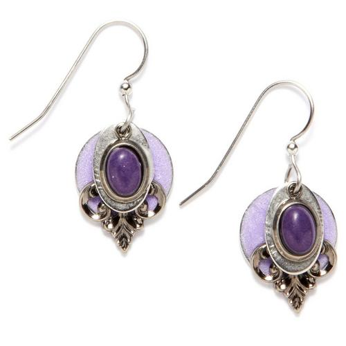 Silver Forest Purple Jade Drop Earrings Bealls Florida