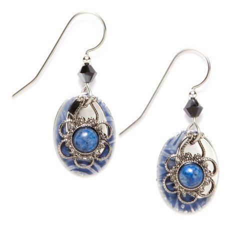 silver forest denim lapis drop earrings bealls florida