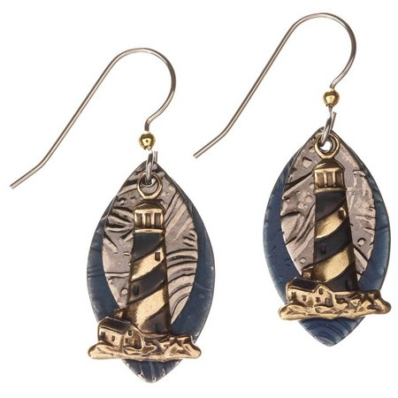 Silver Forest Light House Earrings