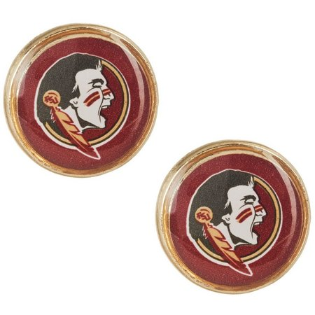 Florida State Seminoles Button Stud Earrings