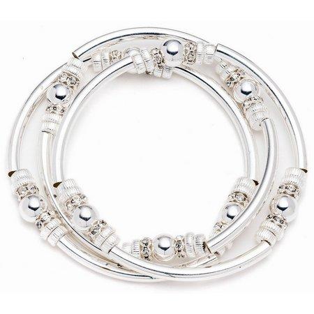 Nine West Stationed Beads Stretch Bracelet Set