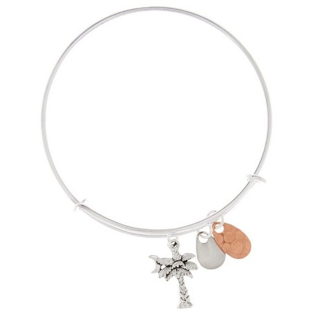 EYE CATCHING Palm Tree & Lure Charm Bracelet