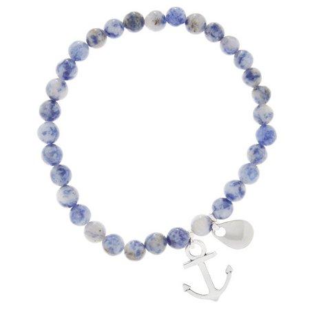 EYE CATCHING Blue Bead & Anchor Lure Bracelet