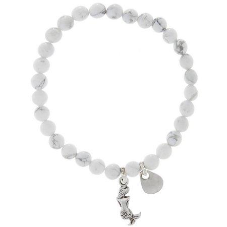 EYE CATCHING White Beaded Mermaid & Lure Bracelet