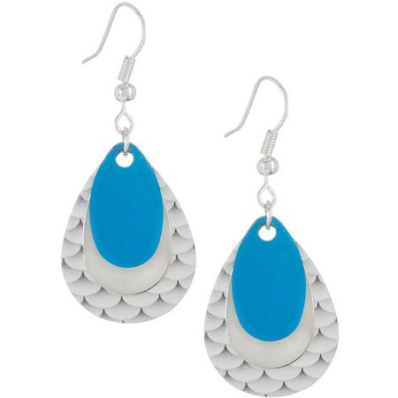 EYE CATCHING Fish Scales Triple Lure Earrings