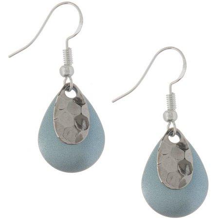 EYE CATCHING Light Blue Teardrop Lure Earrings