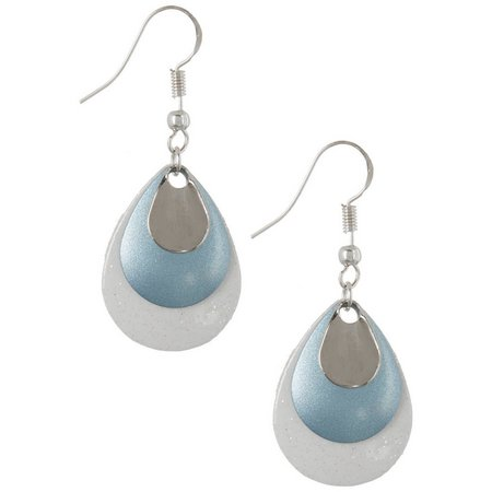 EYE CATCHING Blue Sparkle Layered Lure Earrings