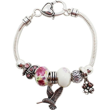 Be Charmed Hummingbird Charm Slider Bracelet