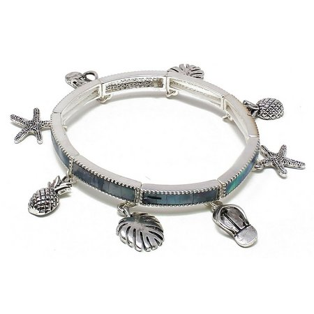 Believe In Beach Charms Abalone Shell Bracelet