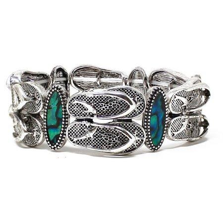 Believe In Flip Flop & Abalone Shell Bracelet