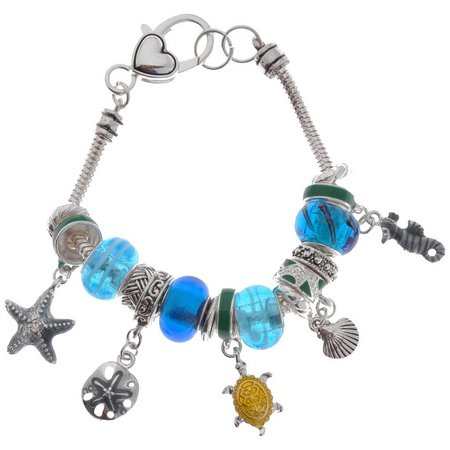 Be Charmed Blue Bead & Sea Life Charm
