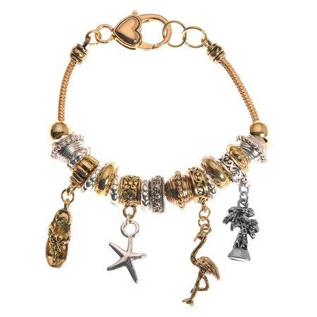 Be Charmed Two Tone Coastal Charm Bracelet