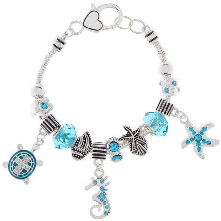 Be Charmed Sea Turtle & Seahorse Charm Bracelet
