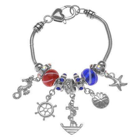 Be Charmed Red White Blue Sea Life Charm