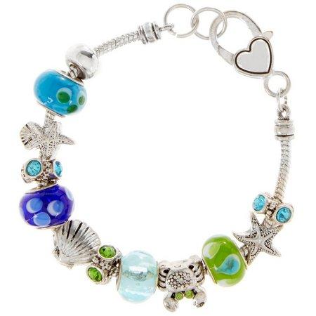 Be Charmed Sea Life Artisian Slider Bead Bracelet