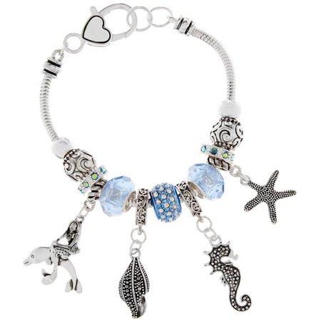 Be Charmed Sea Life Charms & Blue Bead