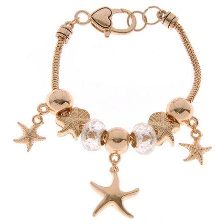 Be Charmed Gold Tone Starfish Charm Bracelet