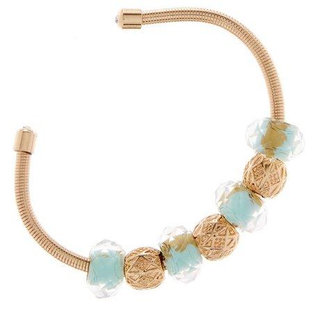 Be Charmed Glass Beaded Cuff Bracelet
