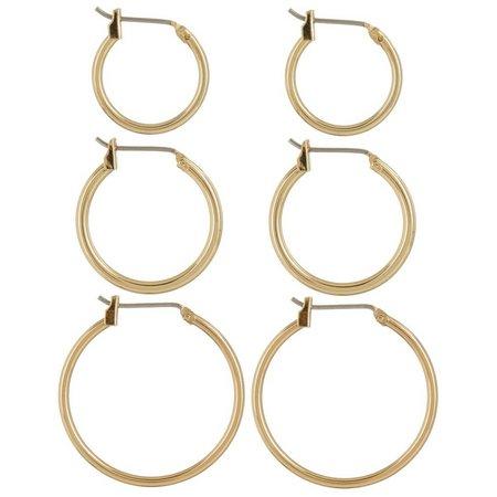 Napier 3-pc. Gold Tone Hoop Earring Set