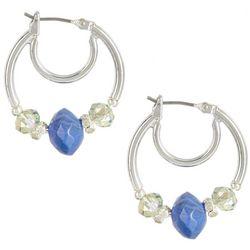 Napier Blue Multi Bead Hoop Earrings